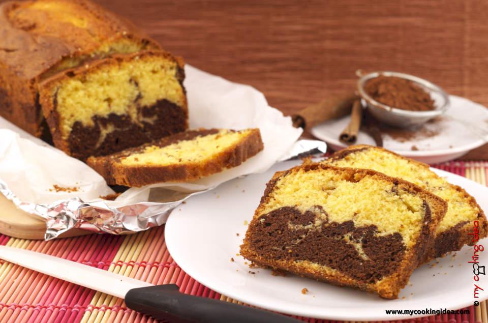 Plumcake bicolore, ricetta torta