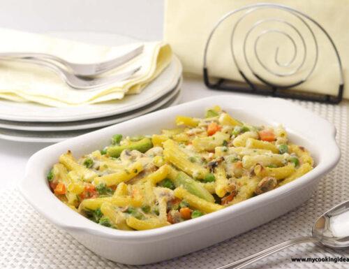 Pasta gratinata con verdure