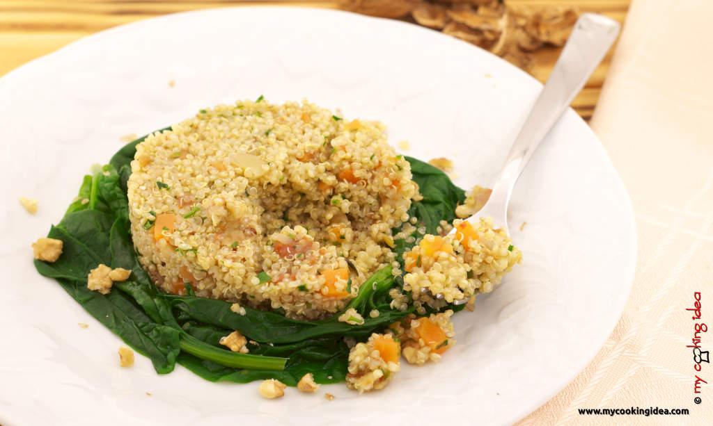 Quinoa con verdure, ricetta primi