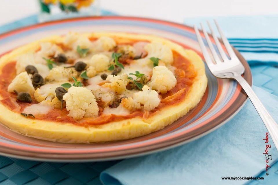 Finta pizza con cavolfiore, ricetta