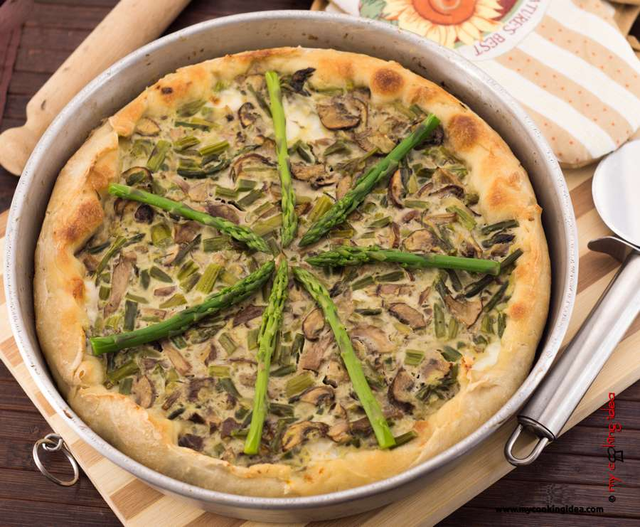 Torta rustica con asparagi