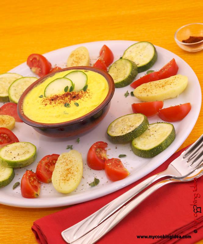 Verdure con crema allo zafferano