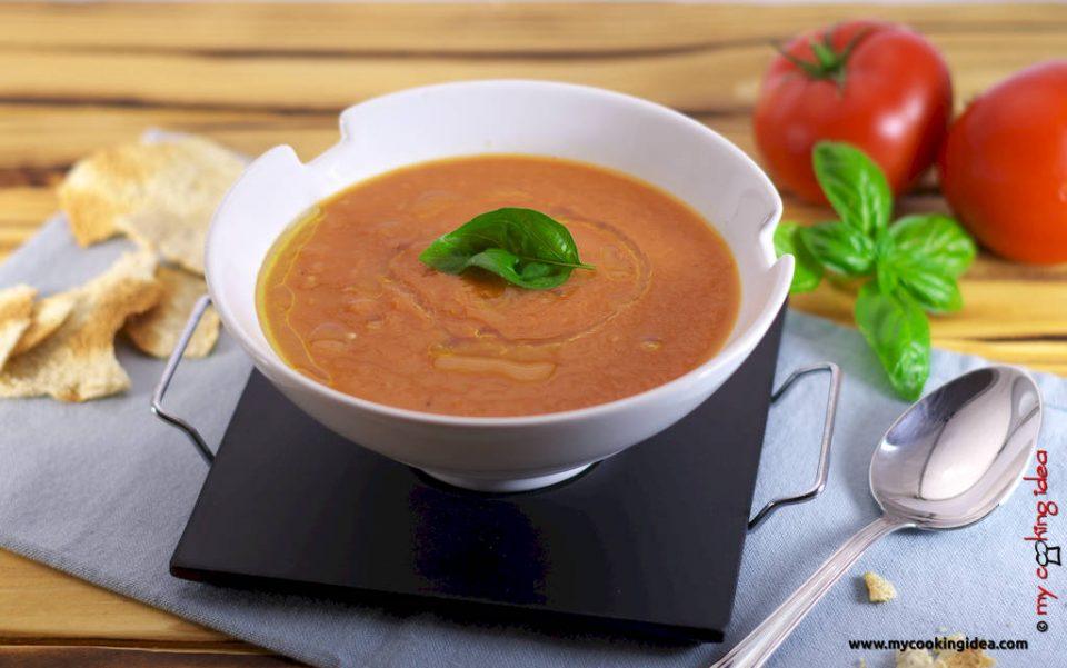 Zuppa di pomodori arrosto