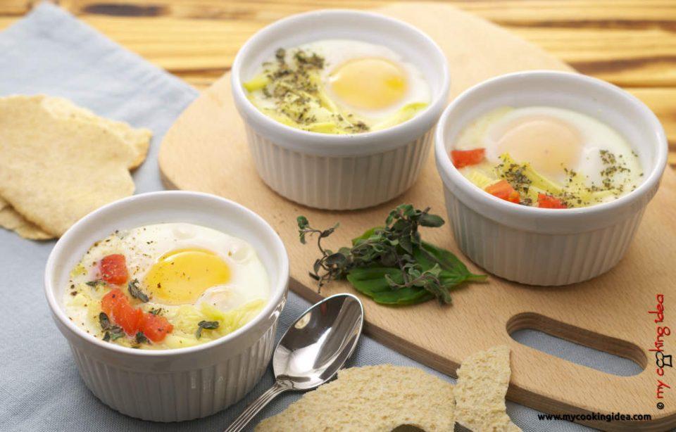 Uova in cocotte con verdure, ricetta