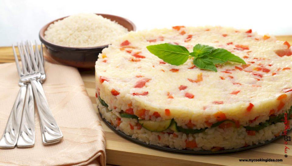 Sformato di riso e zucchine