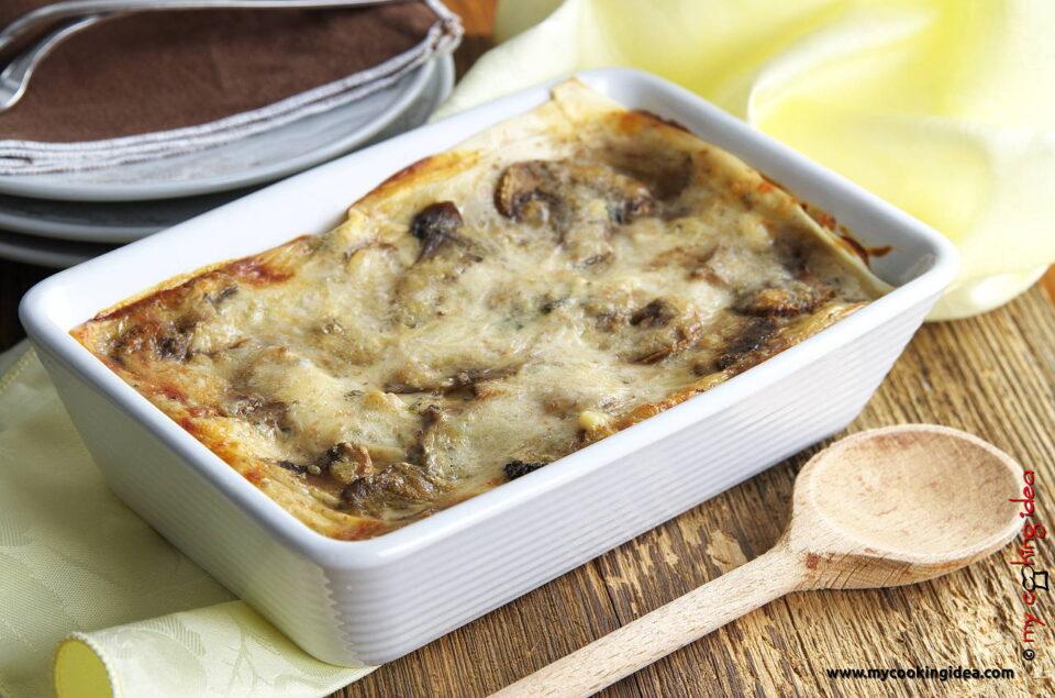 Lasagne bianche con funghi, ricetta primi
