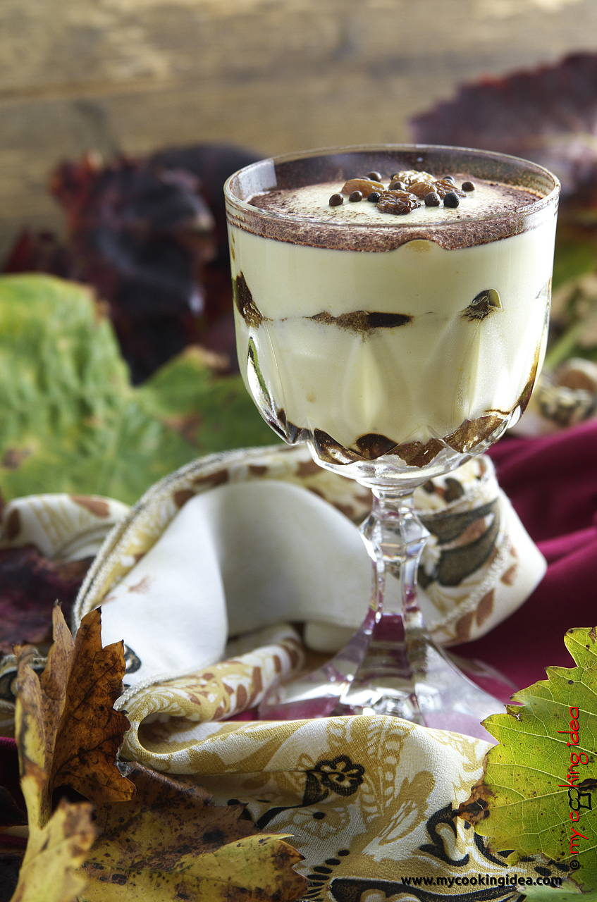 Tiramisù con uvetta e sapa, ricetta dolce