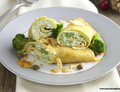 Crespelle di mais con ricotta e broccoli