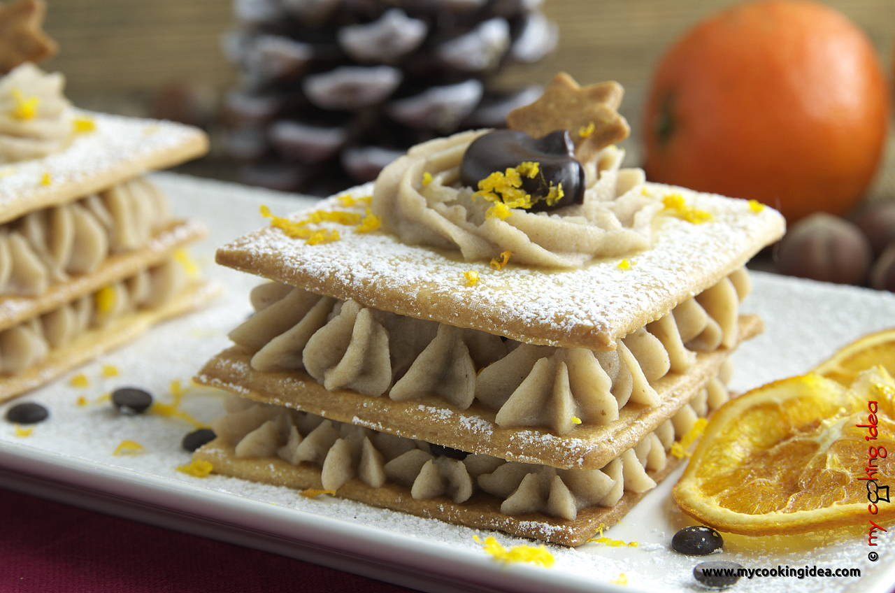 Millefoglie con crema di castagne, ricetta dolce