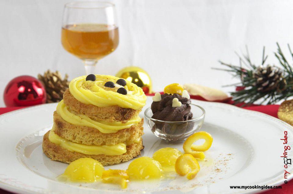 Millefoglie di pandoro con crema all'arancia , ricetta di Natale