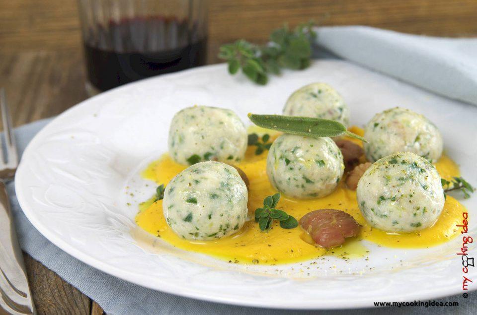 Gnocchi di ricotta e castagne, ricetta primi piatti