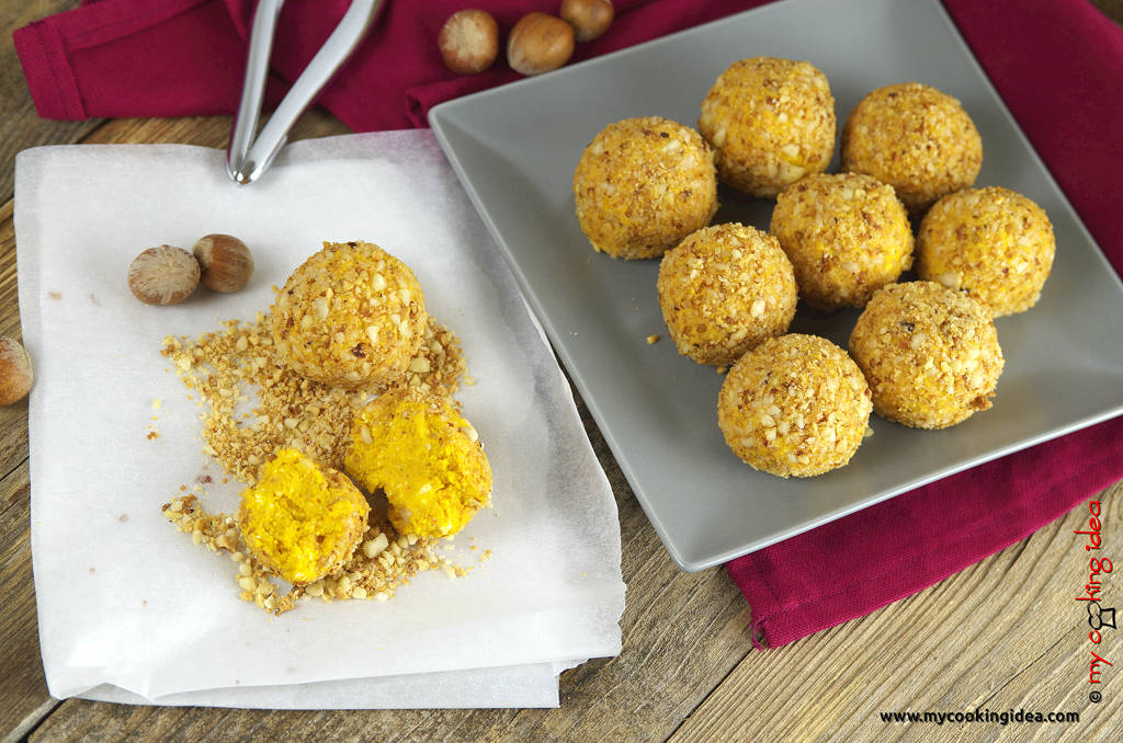 Tartufini di zucca e formaggio, ricetta facile