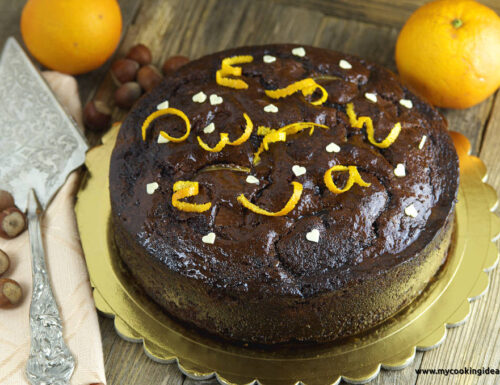 Torta al gianduia e arancia