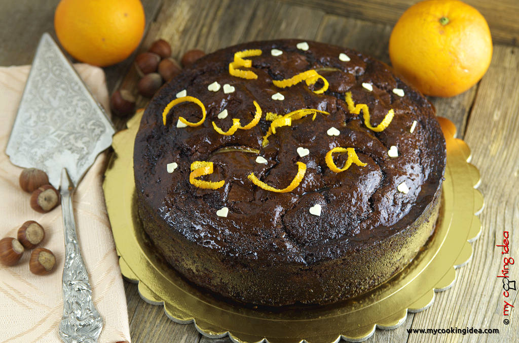 Torta al gianduia e arancia, ricetta dolce al cioccolato