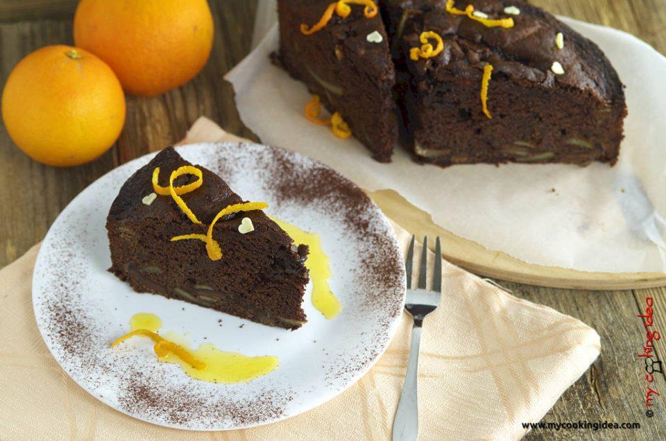 Torta al gianduia e arancia ricetta dolce