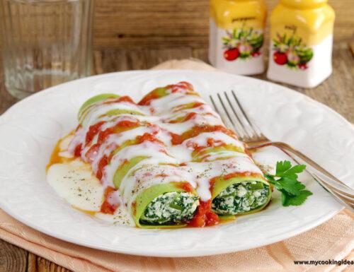 Cannelloni verdi con spinaci
