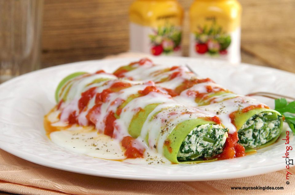 Cannelloni verdi con spinaci, ricetta primi piatti