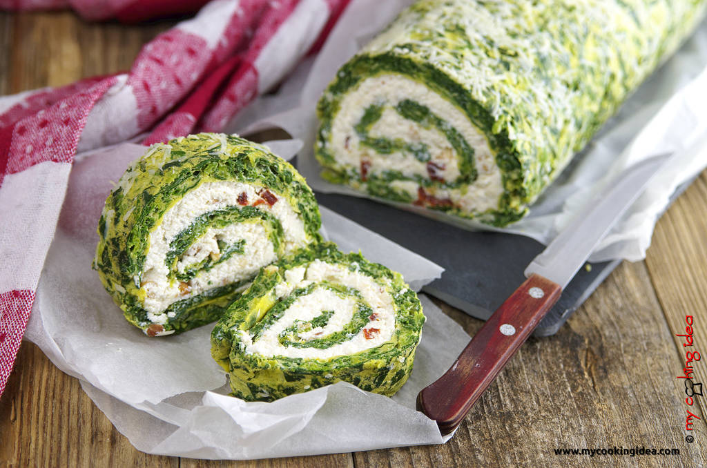 Rotolo di spinaci, idea antipasto