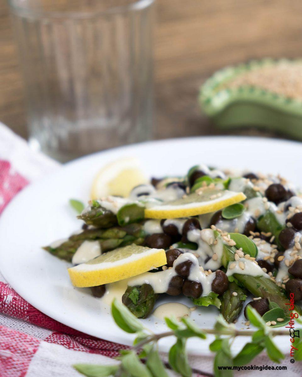 Insalata di ceci e asparagi facile | Ricette con legumi