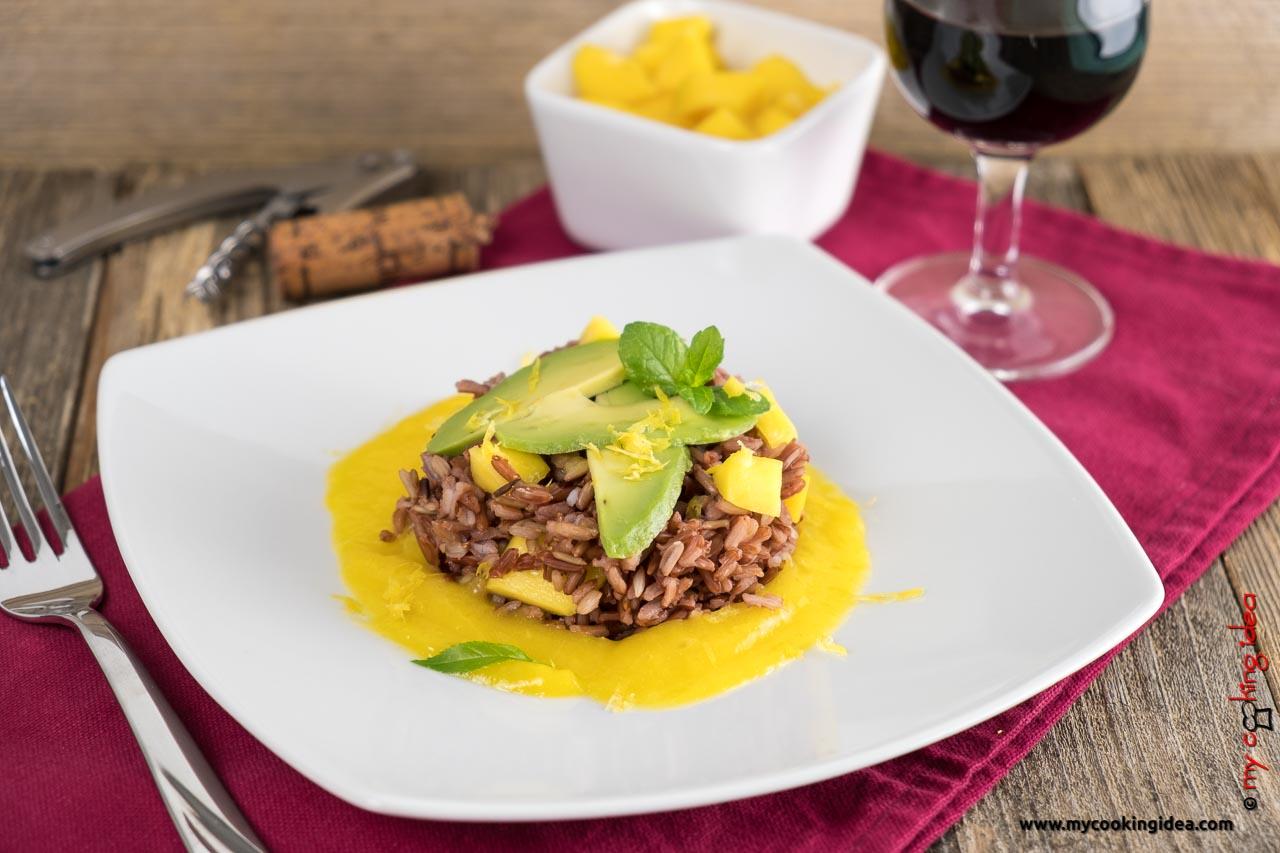 Riso rosso con mango e avocado | Piatti con frutta