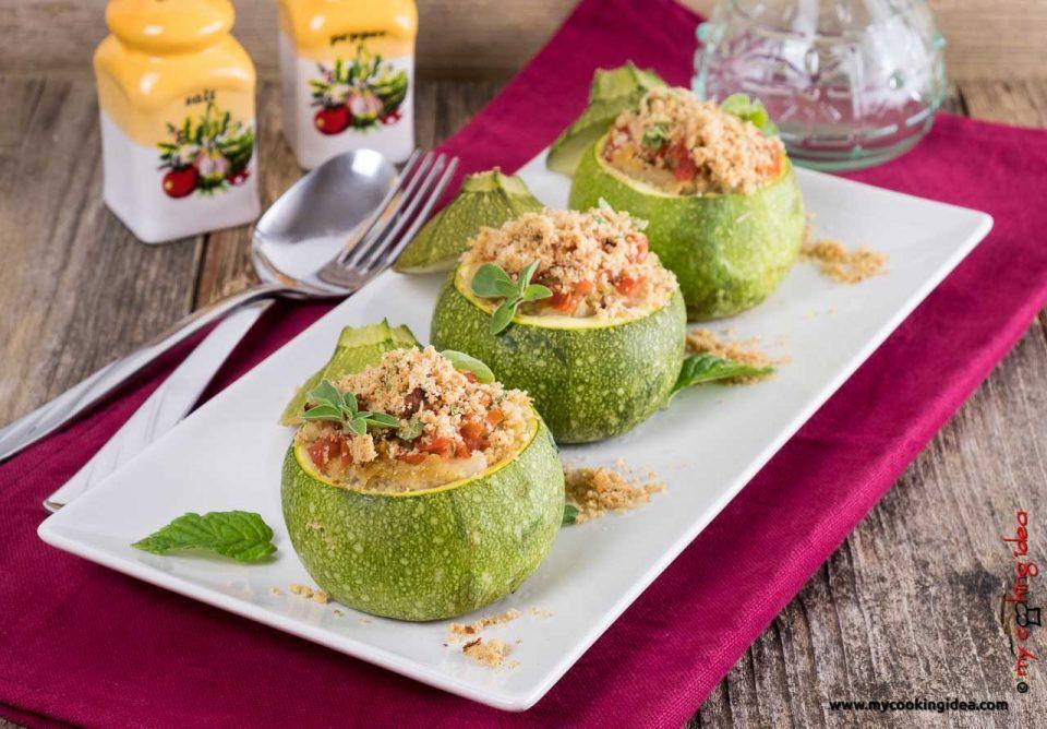 Zucchine ripiene di fagioli | verdure ripiene