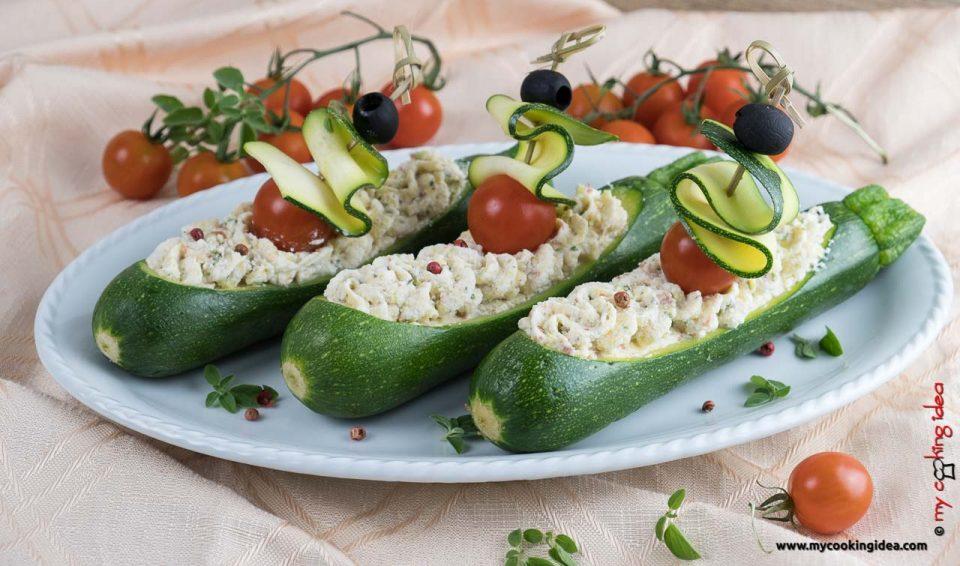Barchette di zucchine | Ricette fredde e veloci