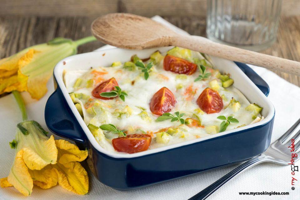 Lasagne con zucchine | Primi piatti vegetariani