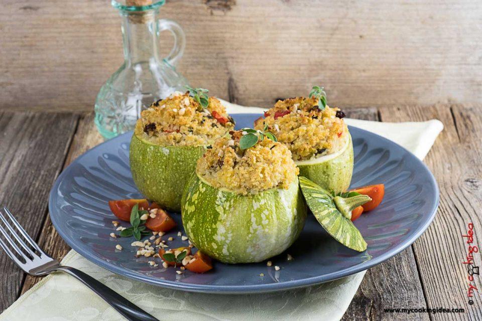 Zucchine ripiene di quinoa | Ricette vegane