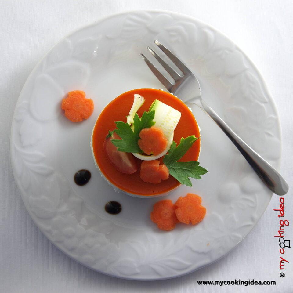 Cheesecake salato con peperoni, ricetta vegetariana