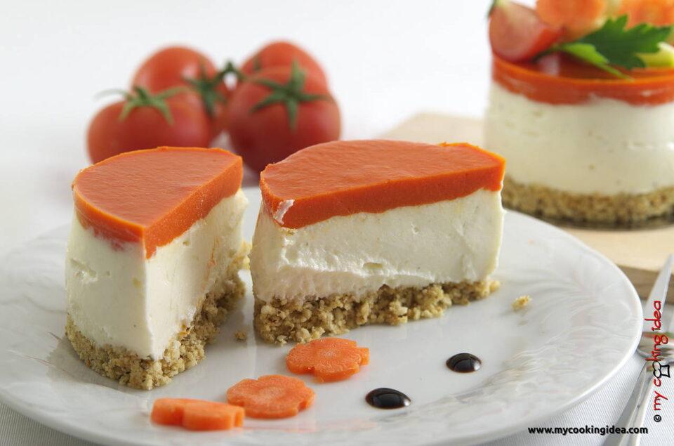 Cheesecake salato con peperoni, ricetta senza forno