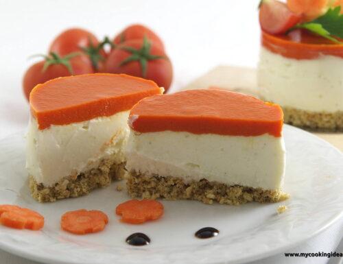 Cheesecake salato con peperoni