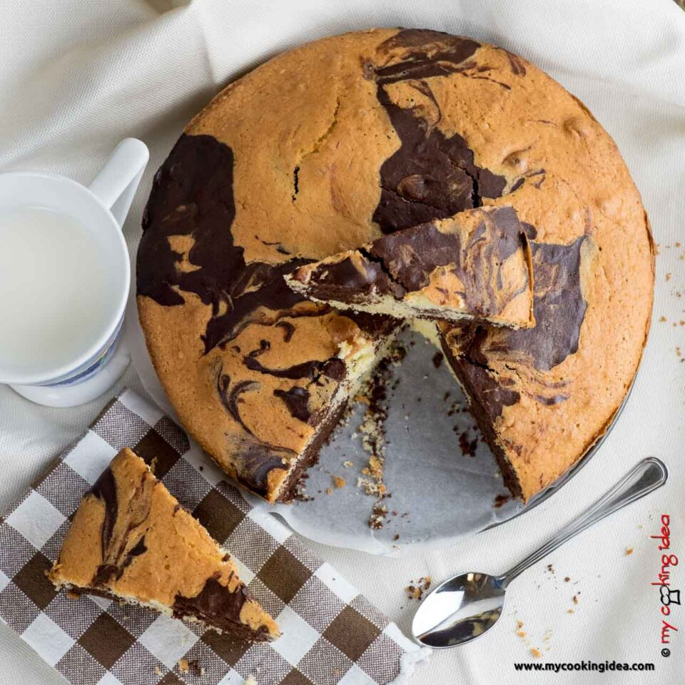 Torta marmorizzata al cacao e limone | Torte da colazione